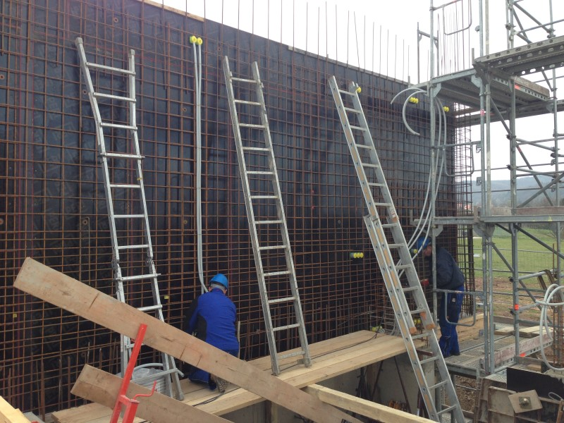 Leerrohrverlegung Neubau Sine-Cura-Schule