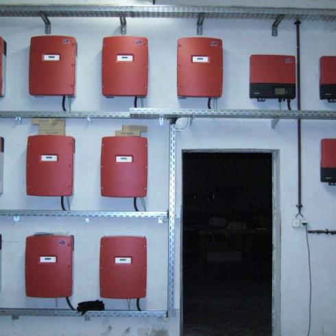 Wechselrichtermontage für Photovoltaikanlage im LK Harz