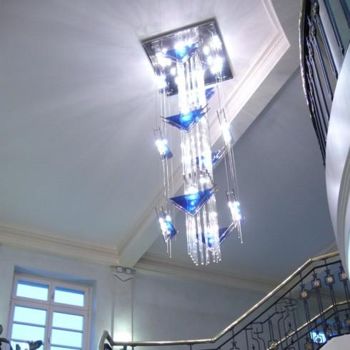 Lichtinstallation Schlosshotel Großer Gasthof Ballenstedt